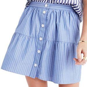 NWT Madewell Bistro Stripe Skirt Size Medium